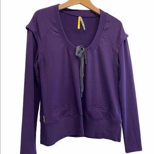 LOLE Scoop neck Purple Fall Winter Long Sleeve Sweater Size Medium EUC